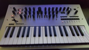 My Korg Minilogue, pic taken 26-Mar-2016