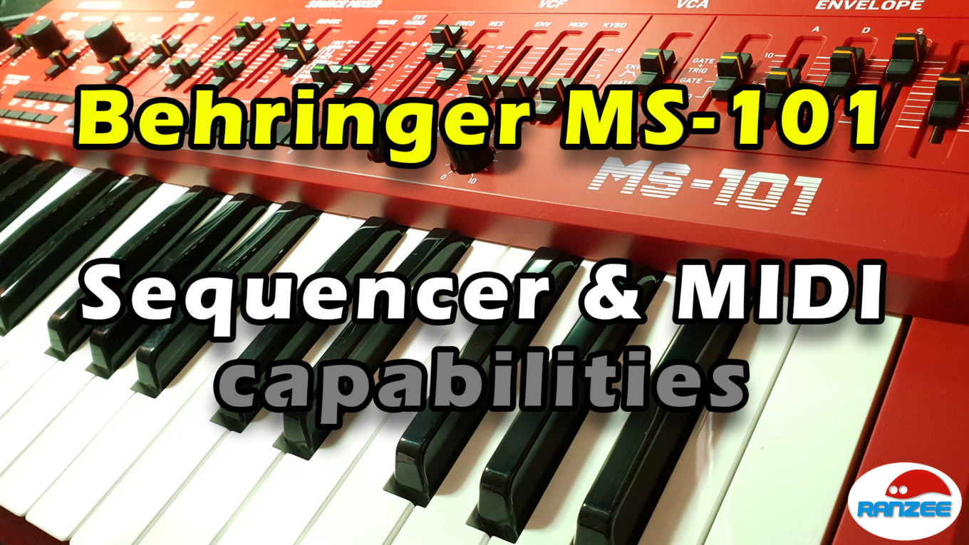 Behringer MS-101 sequencer and MIDI capabilities